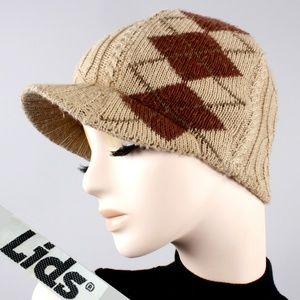 Vintage 60s 70s Knit Cloche Winter Hat Beanie